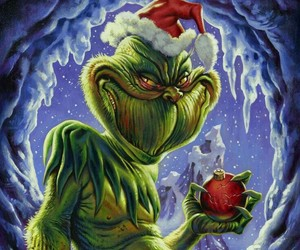 grinch, merrychristmas, and ilustraciones image