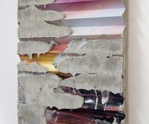 art, texture, and concrete image