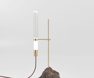 contrast, mineral, and table lamp image