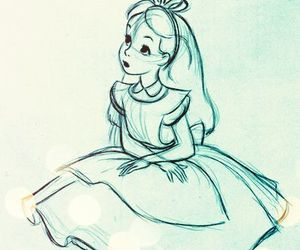 alice in wonderland, disney, and drawing image