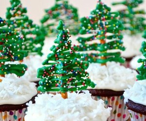 christmas, cupcake, and sweet image