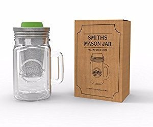 tea infuser, tea maker, and mason jar mug image