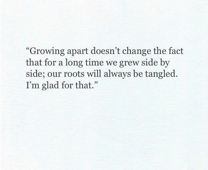 growing apart uploaded by maddieee on we heart it