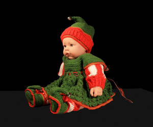 baby, christmas, and dress image