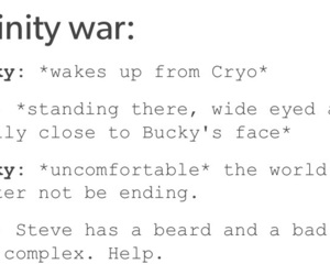 bucky, funny, and infinity image