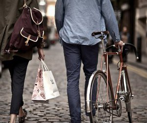 couple, bike, and boy image