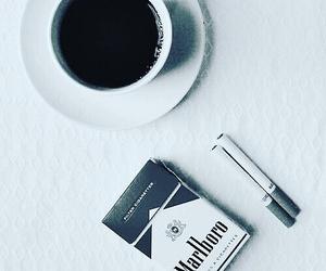 coffee, cigarette, and marlboro image