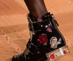 Alexander McQueen, embellished, and buckles image