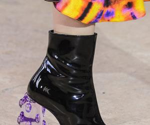 black, heels, and purple image