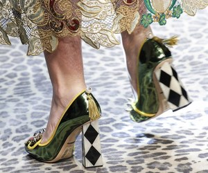black and white, dolce and gabbana, and green image