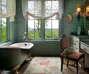 bathroom, vintage, and design image