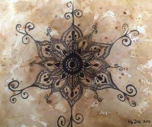 art, black, and brown image