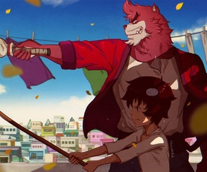 anime, ren, and the boy and the beast image