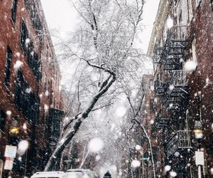 christmas, snow, and city image