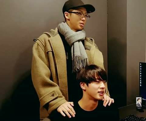 jin, bts, and rm image
