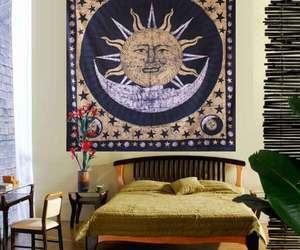 hipster, tapestry, and holiday home decor image