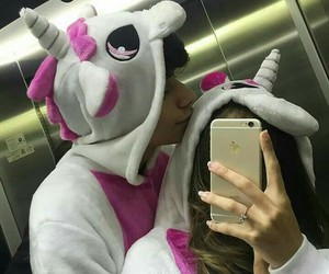 couple, unicorn, and goals image