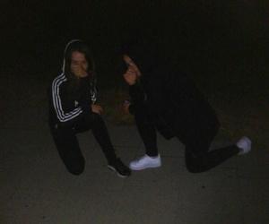 adidas, girl, and dark image