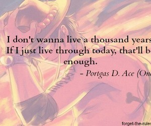one piece, quotes, and ace image