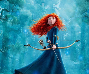 merida, brave, and disney image