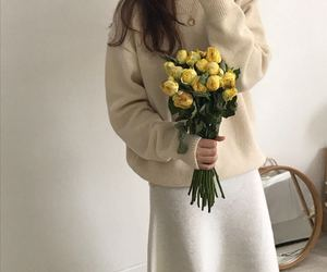 beige, chic, and flowers image