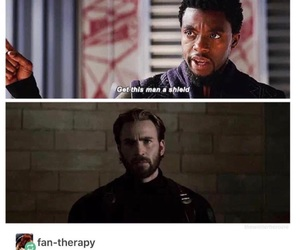Avengers, black panther, and captain america image