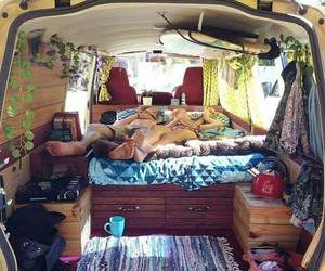 hippie, travel, and couple image