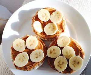 food, banana, and breakfast image