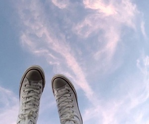 sky, blue, and converse image