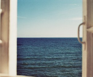 sea, window, and ocean image