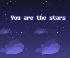 stars, grunge, and sky image