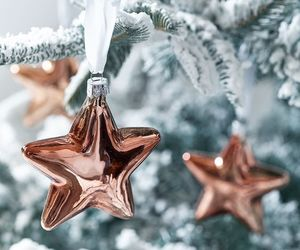 christmas, winter, and stars image