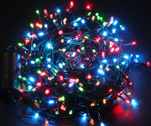 aesthetic, christmas, and fairy lights image