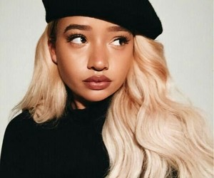 girl, blonde, and melanin image