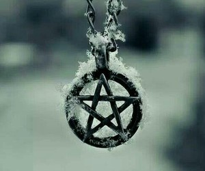 pentagram, snow, and winter image