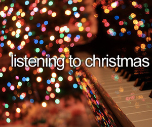 christmas, music, and lights image