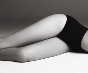 legs, black and white, and body image