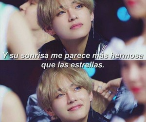 frases, taehyung, and sonrisa image