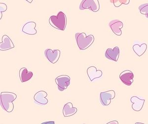 wallpaper and hearts image