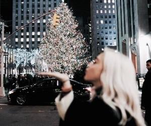 girl, christmas, and winter image