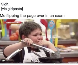 exam, funny, and me image