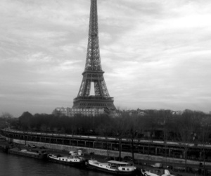 black white, paris, and photography image