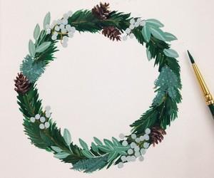 art, christmas, and drawing image