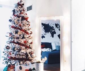 bedroom, tree, and warm image
