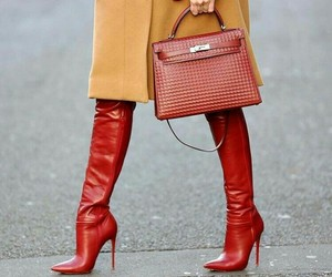 boots, coat, and fashion image