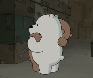 bear, hug, and we bare bears image