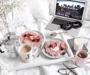 breakfast, waffles, and food image