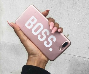 pink, boss, and iphone image