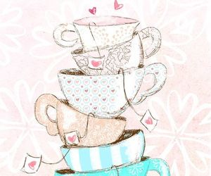 cups, frame, and girly image