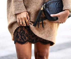 fashion, chic, and lace image